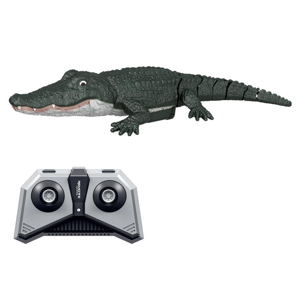 2.4g Remote  Control  Simulation  Crocodile Remote Control Boat Toy Dark color