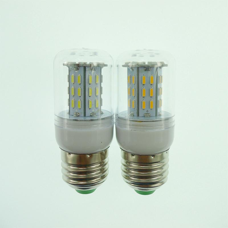 High Luminous E27 220V LED Lamp 4014 SMD No Flicker Dimmable LED Corn Bulb 45LEDs Spot light For Home Lighting White