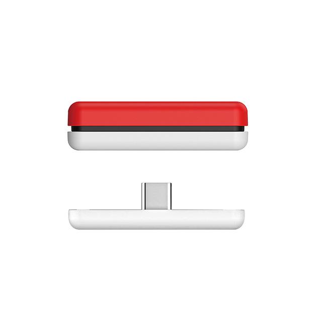 Wireless Bluetooth Adapter Audio USB Transmitter w/APTX Low Latency For Nintendo Switch / Switch Lite Red white