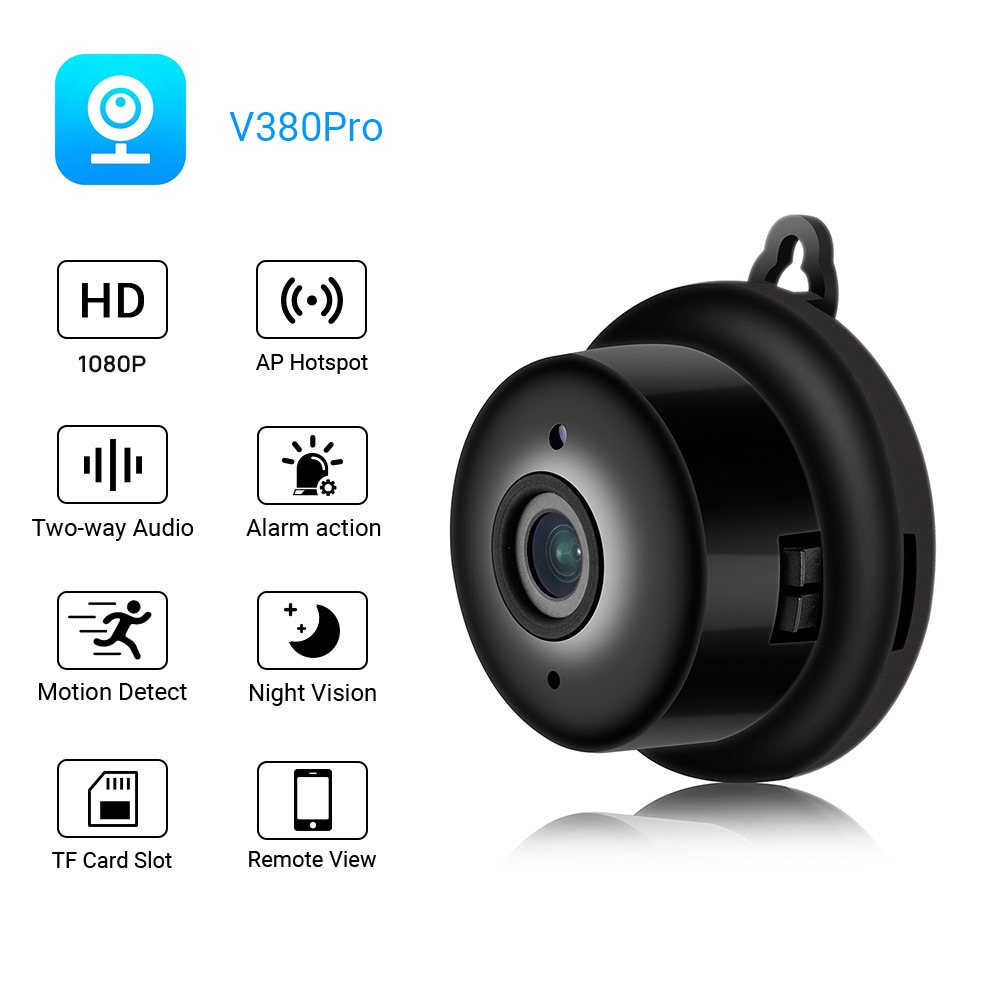 V380 Wifi Mini Ip  Camera Outdoor Night Version Micro Camera Camcorder Voice Video Recorder Security Hd Camcorders U.S. plug