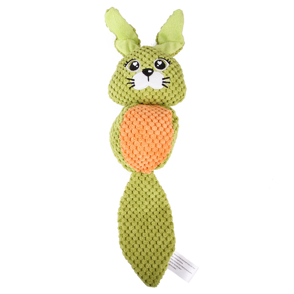 Cartoon Plush Doll Toys Squeaking Teeth Cleaning Small Mudium Dog Puppy Chew Toy rabbit
