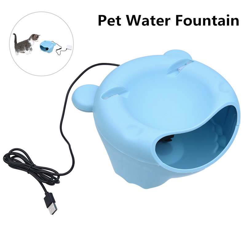 Electric Pet Water Fountain Dispense Blue