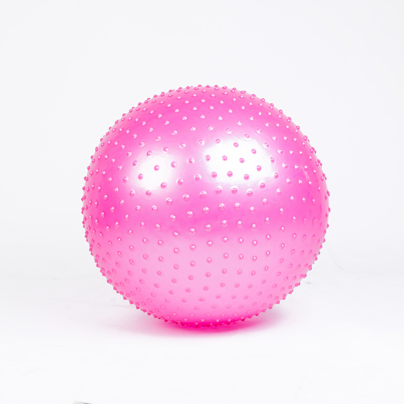Massage Ball Spiky Yoga Gym Ball Trigger Point Stress Relief 65cm Portable Muscle Relaxation Ball Pink