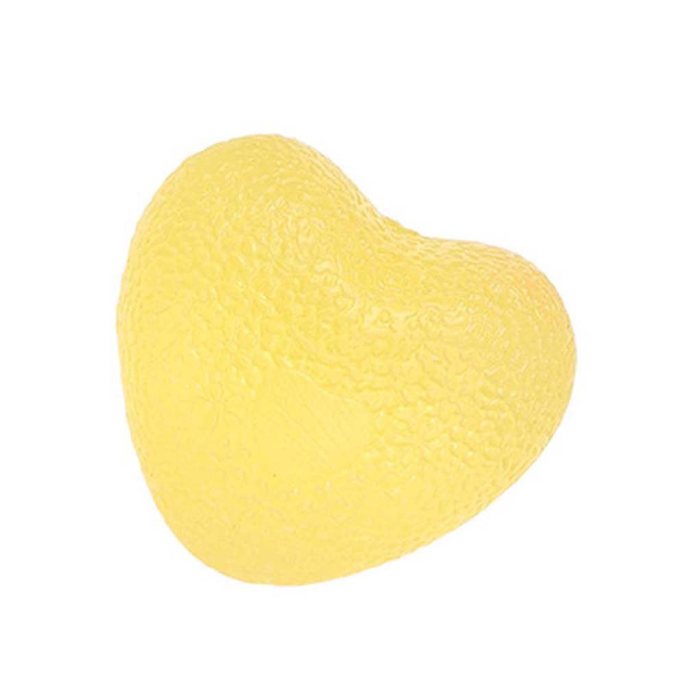 Love Shape Silicone Grip Ball Decompression Massage Ball Wrist Movement Fitness Recovery Ball yellow