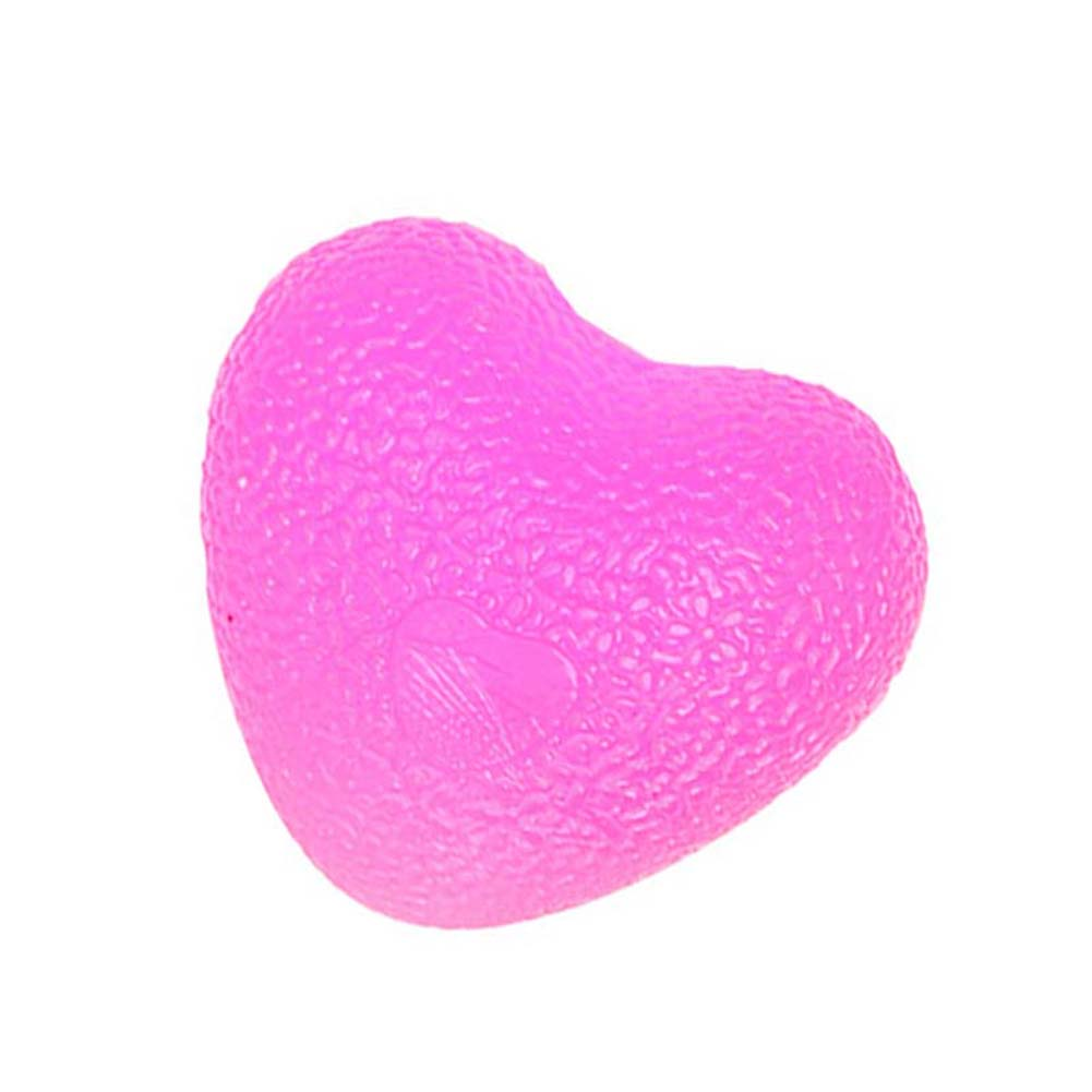 Love Shape Silicone Grip Ball Decompression Massage Ball Wrist Movement Fitness Recovery Ball Rose red