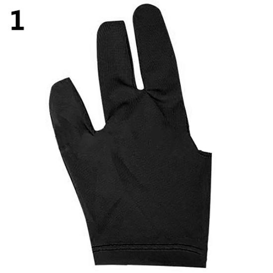 10pcs Billiards Three-finger Gloves Snooker Yoyo Gloves black