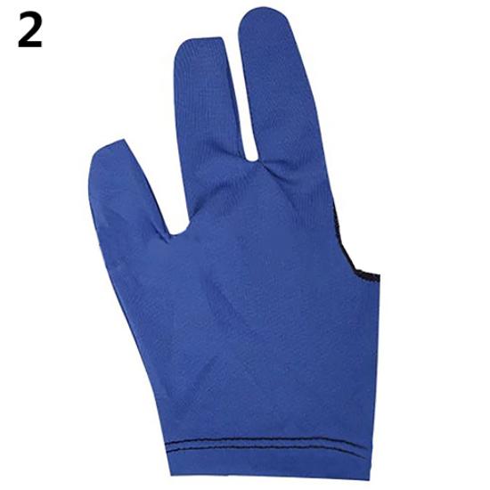 10pcs Billiards Three-finger Gloves Snooker Yoyo Gloves blue
