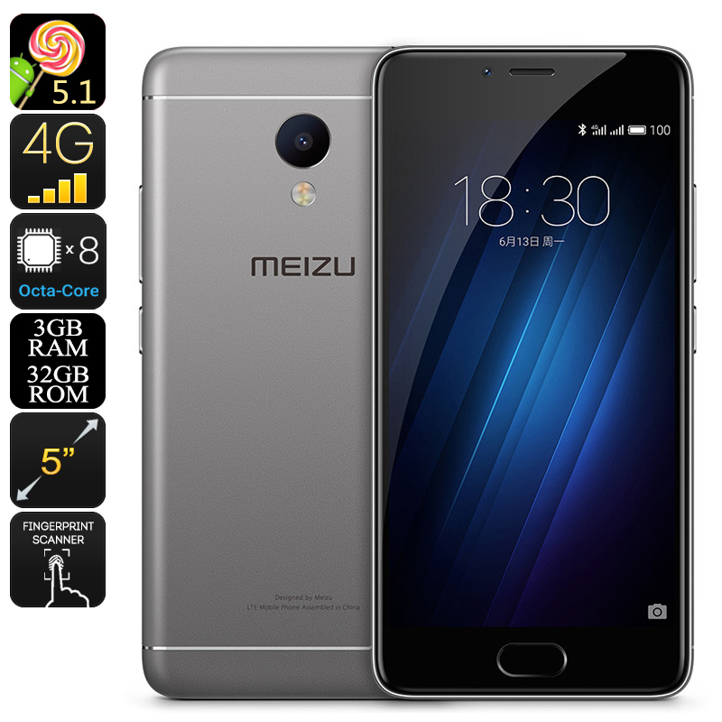 Meizu M3S Android Smartphone (Gray)