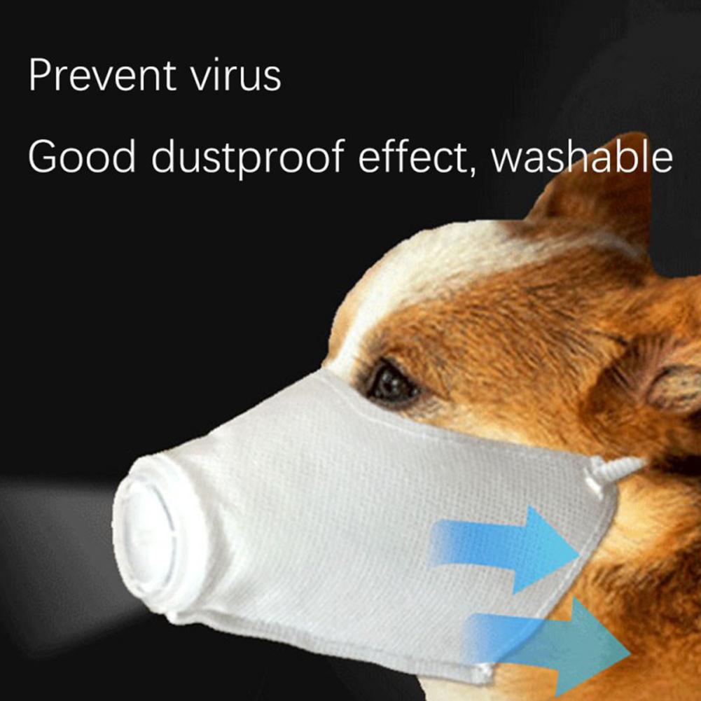 Pet Dog Dust Antibacterial Mask Anti-Haze Outdoor Travel Supplies Prevent Virus Washable Mask White _S code