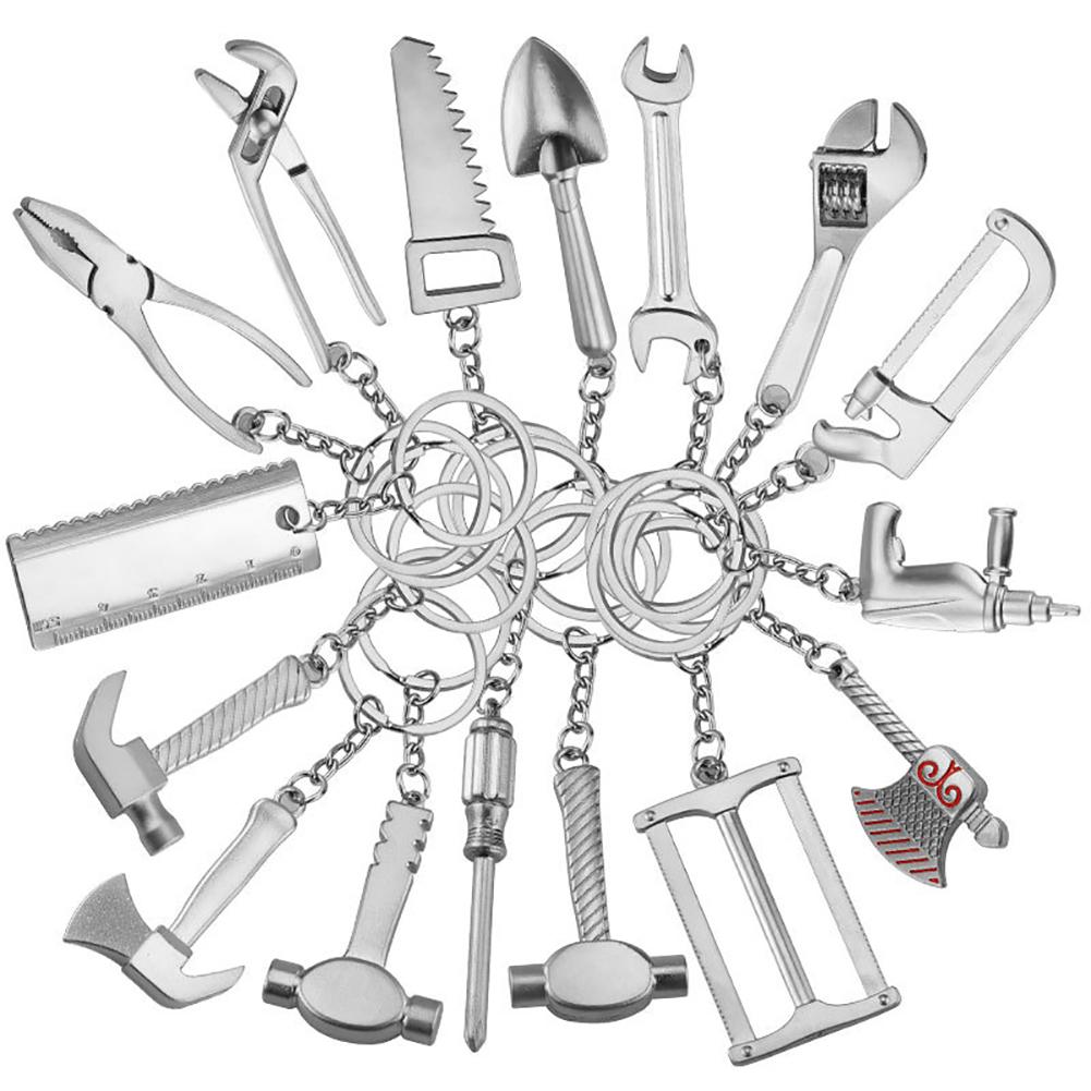 Mini Imitation Practical Tools Shape Metal Keyring Car Waist Hanged Key Chain Pendant