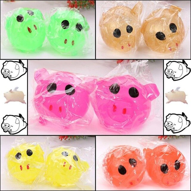 LED animal toys Anti-stress Toy Decompression Splat Ball Vent Smash Various Styles Pig Toys Cute Squeeze Toy New Gift accessorie