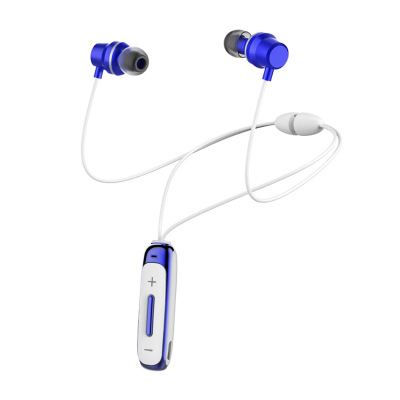 Bt315 Bluetooth  Headset With Microphone Bass Sports Magnetic Headset In-ear Wireless Earbuds blue