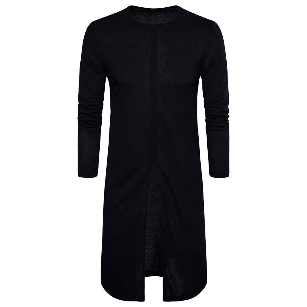 Bottoming Shirt Men's Long Sleeve T-shirt black_2XL