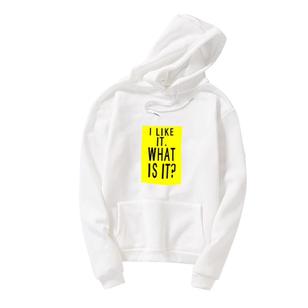 Couple Fleece Loose Thickened Long Sleeve Pocket Sweatshirts Hoody white_2XL
