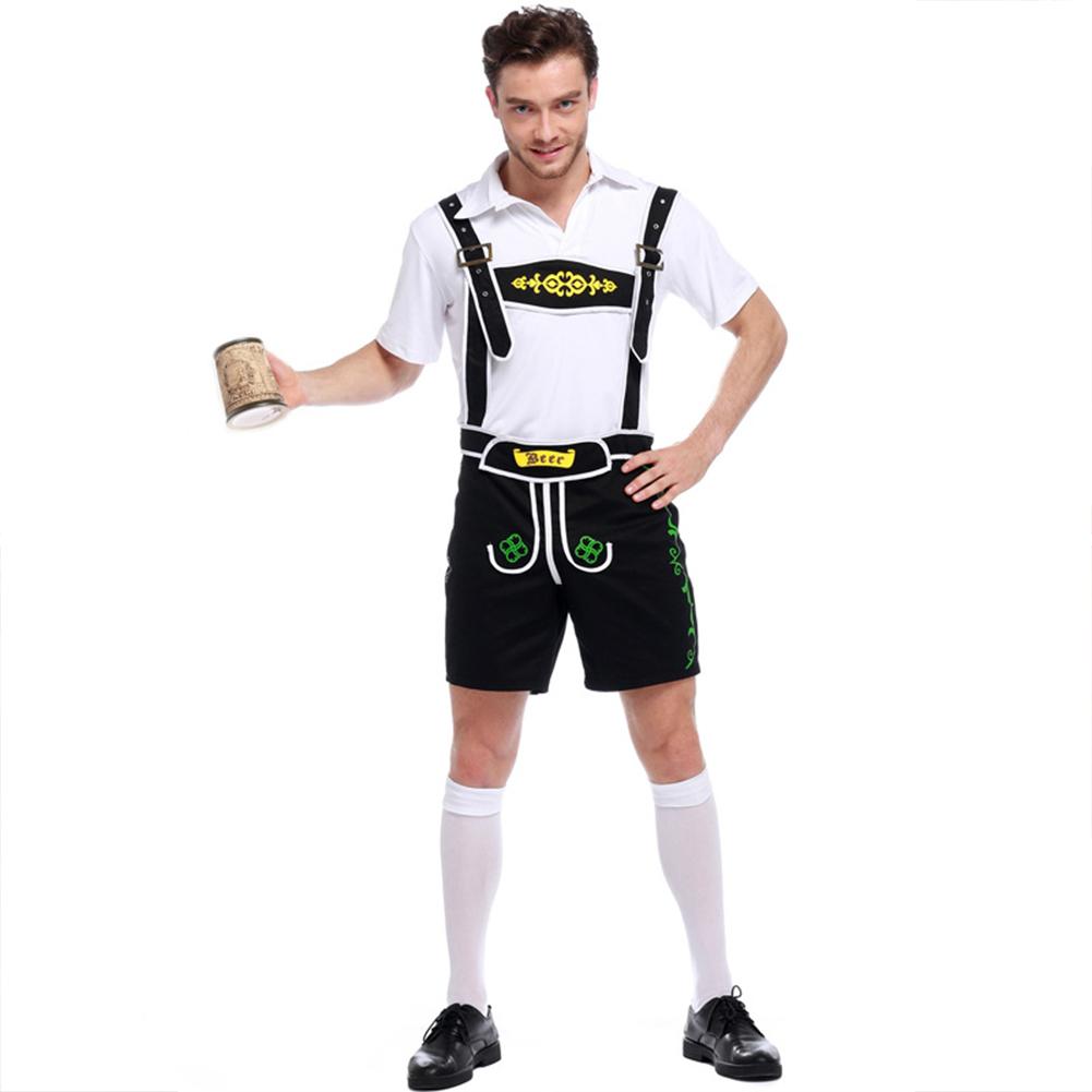 Men Fashion Oktoberfest Costumes Halloween Uniform Beer Costumes black_XXL