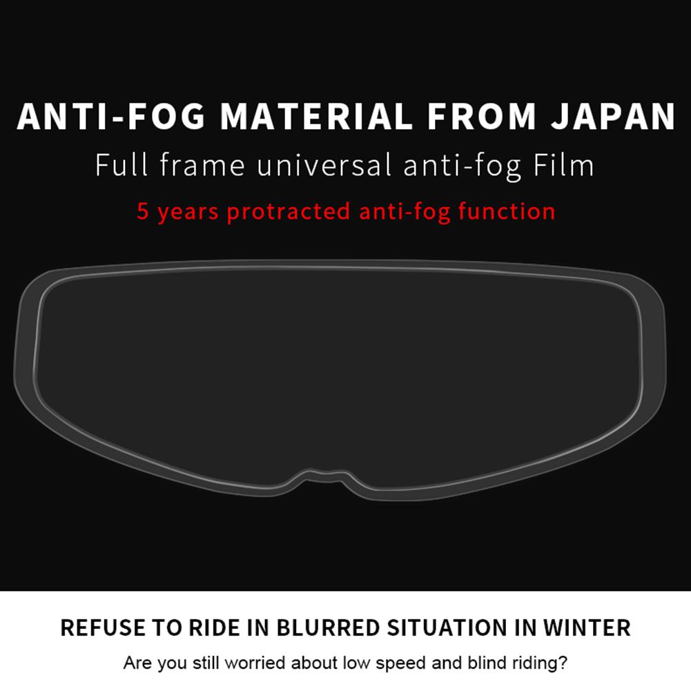 Motorcycle Helmet Anti Fog Film Full Helmet Lens Anti Fog Sticker Helmet General Anti Fog Film