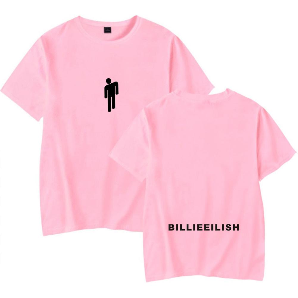 Fashion Young All-matching Soft Cotton T-shirts Pink C_XXL