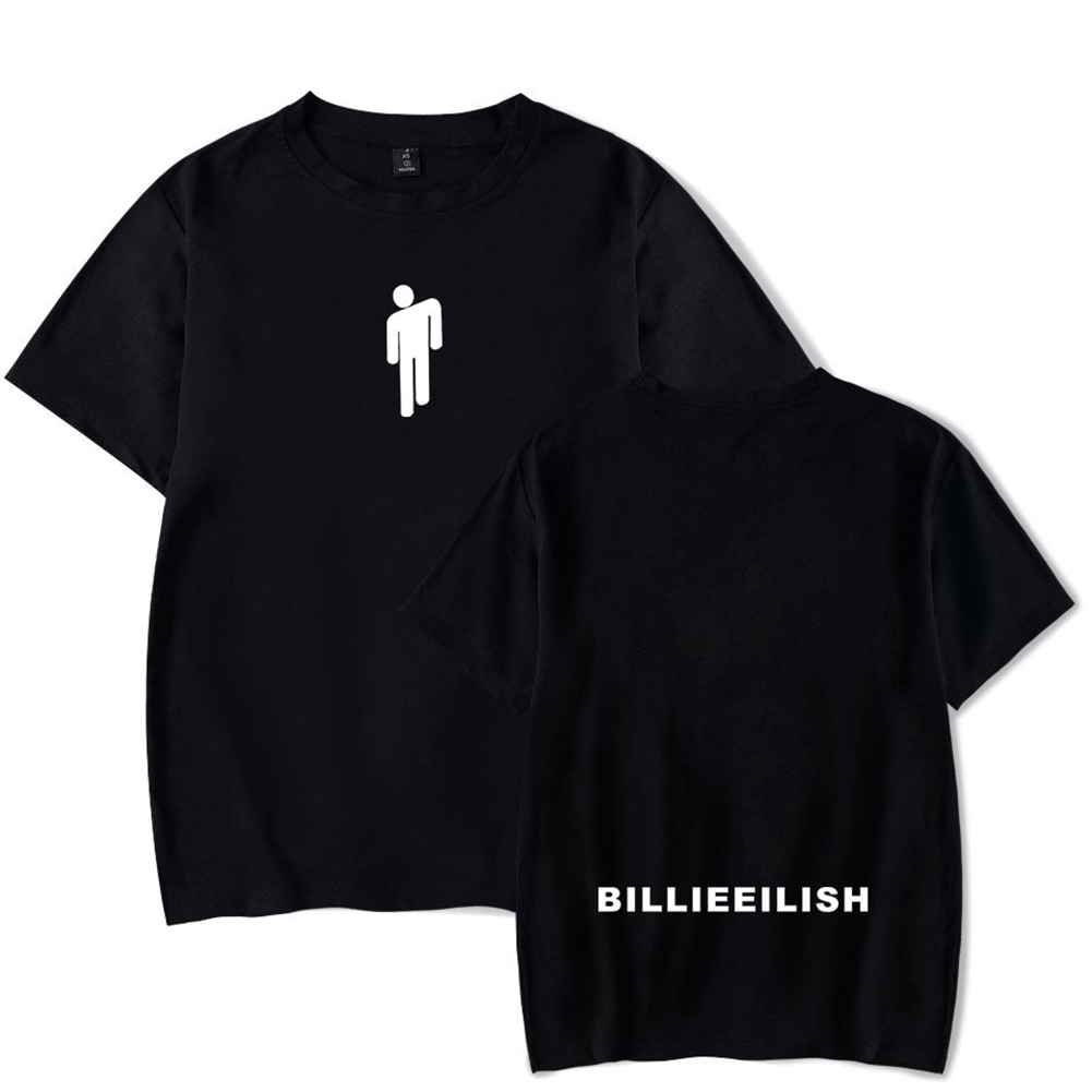 Fashion Young All-matching Soft Cotton T-shirts Black C_XXL