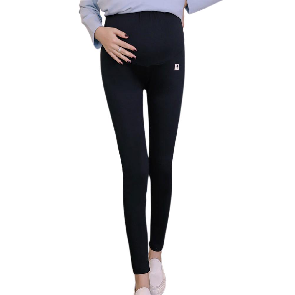 Cute Kitten Pattern Abdomen Support Leggings Trousers for Pregnant Woman  Black _XXL
