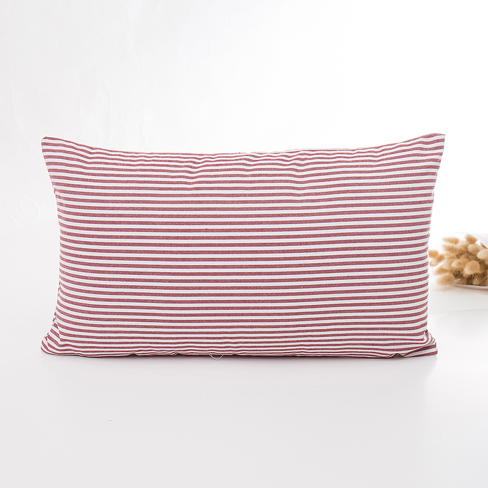 Stripe Plaid Printed Pillow Cover White Red Throw Pillow Case Cushion Cover for Sofa Home Hotel Decoration Pillowcase Pinstripe_30X50cm