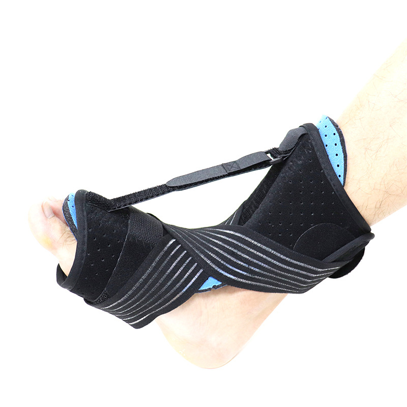 Drop Foot Brace Adjustable Plantar Fasciitis Dorsal Night Splint Foot Support Ankle Stabilizer Orthotic Foot Pain Relief black_One size