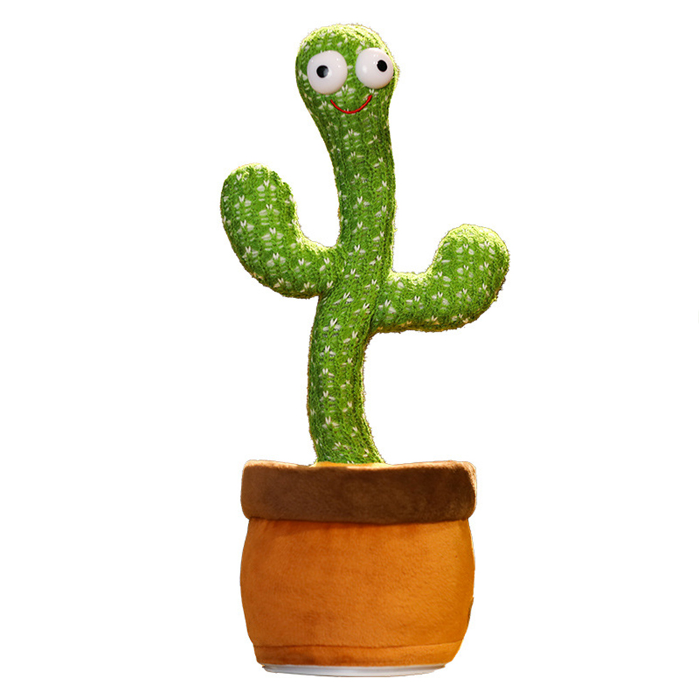 Dancing  Cactus  Toys Plush Singing Cactus Toy Home Decoration Children Playing Toy 120 Vietnamese songs/recording to learn tongue/lighting/dancing/usb charging