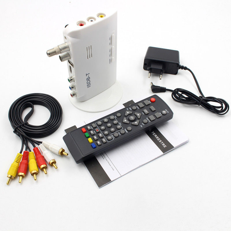 ISDB-T Digital Terrestrial Converter TV BOX Receiver 1080P US plug