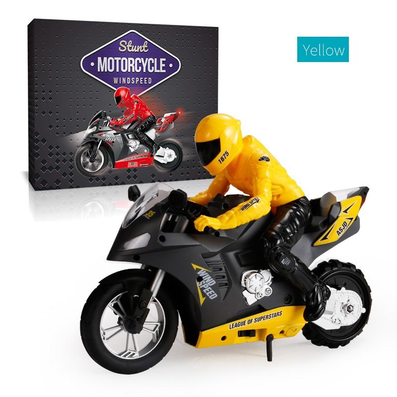 DG-801 1/6  Self-Balancing RC Motorcycle 6 axis of gyroscope Stunt Racing Motorcycle Plastic Mini Motorcycle Toy yellow
