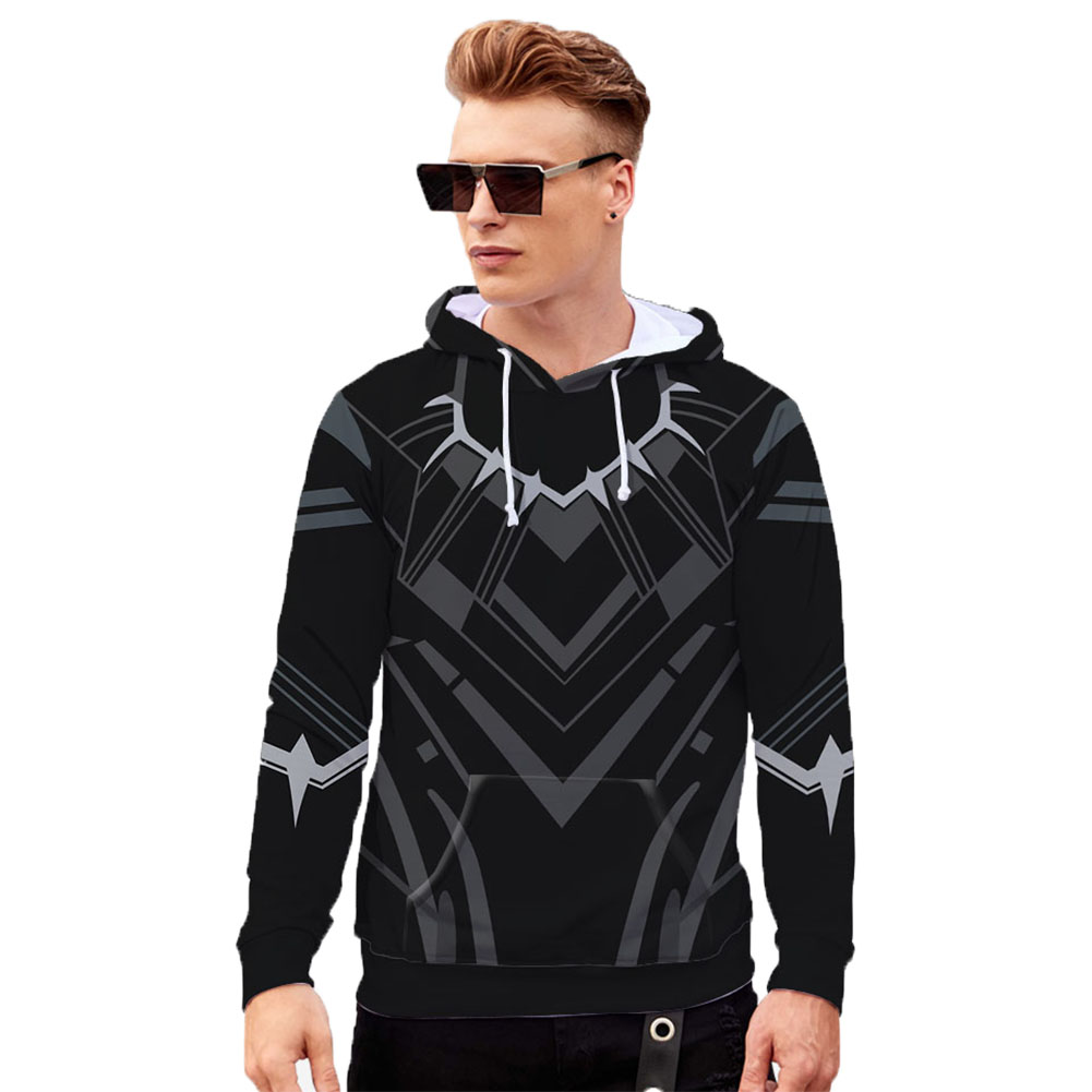 Men Women Black Panther 3D Printed Long Sleeve Hoodie Pullover Q-4896-YH03_S