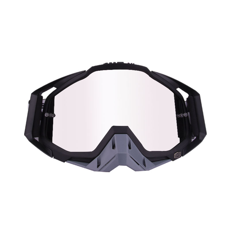 Motorcycle  Goggles Outdoor Off-road Goggles Riding Glasses Windproof Dustproof riding glasses All black + gray (silver piece)