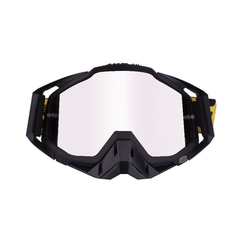 Motorcycle  Goggles Outdoor Off-road Goggles Riding Glasses Windproof Dustproof riding glasses All black + black (silver)