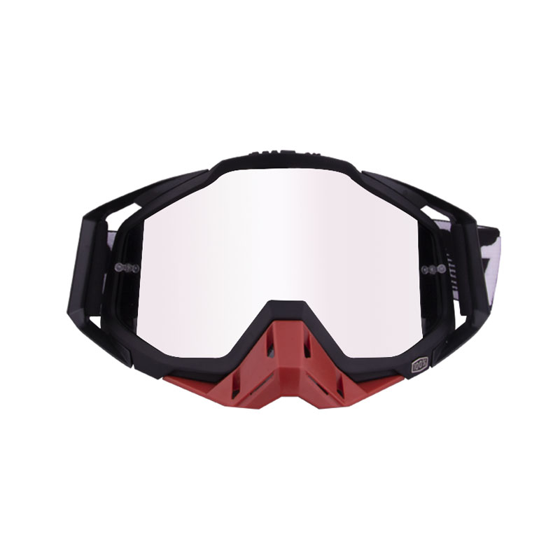 Motorcycle  Goggles Outdoor Off-road Goggles Riding Glasses Windproof Dustproof riding glasses All black + red (silver)