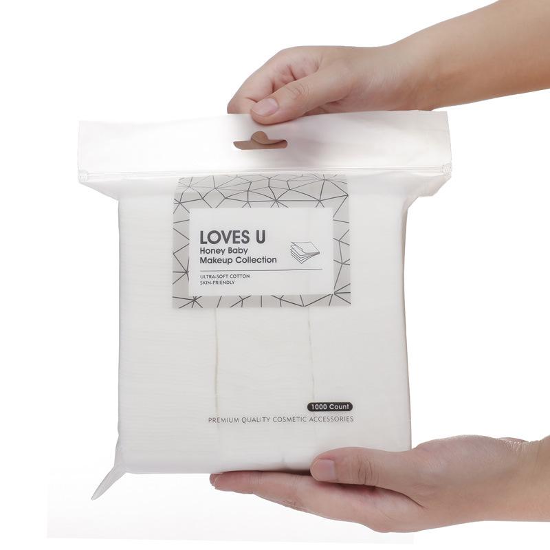 [Indonesia Direct] 1000 Pcs/bag Face Clean Paper Thin Cotton Pads Makeup Remover Makeup Cotton white