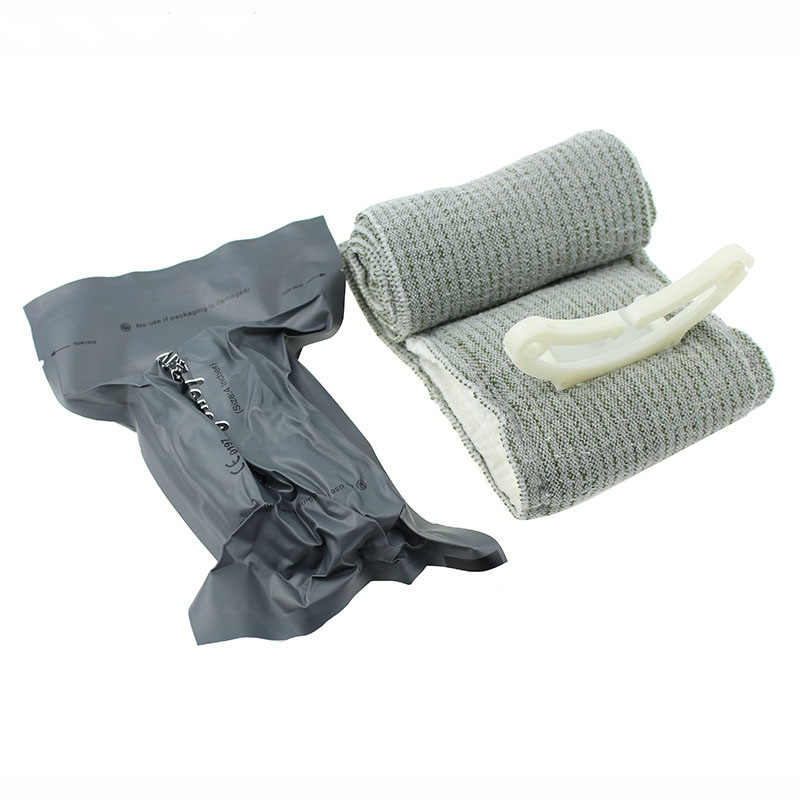 Emergency Hemostasis Elastic Bandage Sterilized OutdoorTactical Medical Bandage 10CM*200CM