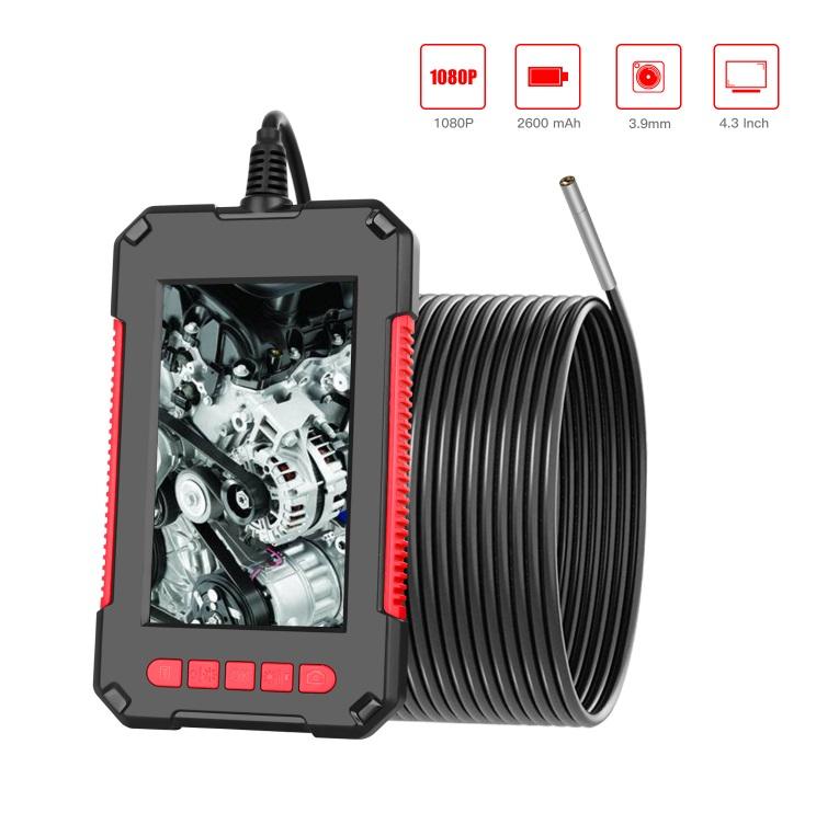 4.3inch Screen Waterproof Endoscope 3.9mm HD Handheld Industrial Borescope 2 meters