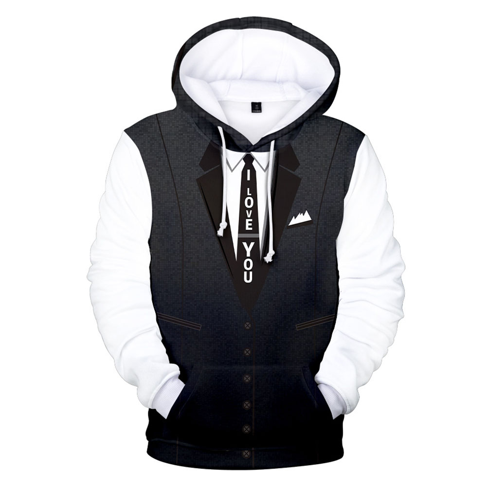 Couple Man 3D Digital Printing Fashion Casual Pullover Hooded Sweater Hoodie 1#_XXXL