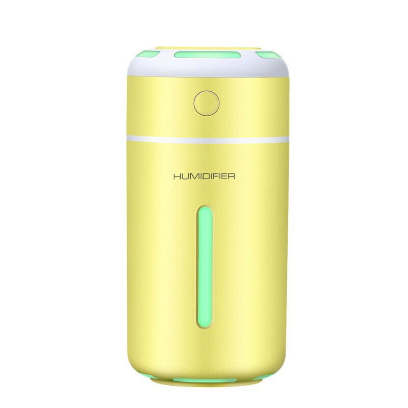 7 Colors LED Ultrasonic Essential Oil Diffuser Mini Aromatherapy Air Humidifier yellow