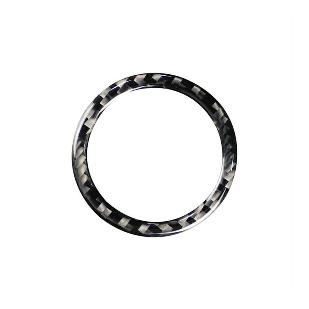 Carbon Fiber Engine Start/stop Button Ring Trim For Is250 Modified Interior Decoration Carbon black