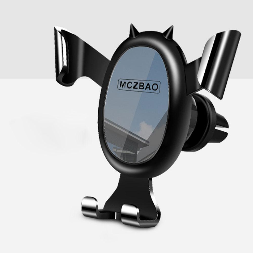 Car Phone Holder Car Air Outlet Navigation Gravity Holder Air Vent Mount Stand Grip Bracket Black mirror