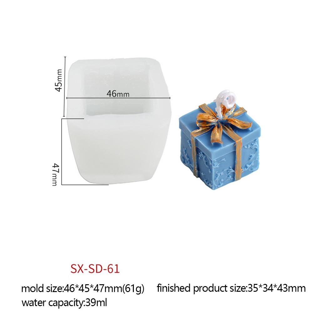 Christmas  Series  Candle  Silicone  Mold Diy Creative Christmas Tree Santa Claus Aroma Candle Mould Christmas gift SD-61