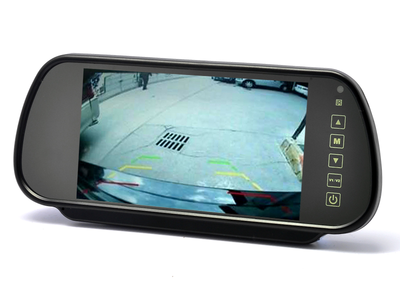 Купить со скидкой 7 Inch Rearview Mirror Monitor - Touch Button Control, 4:3 Ratio, 480x234