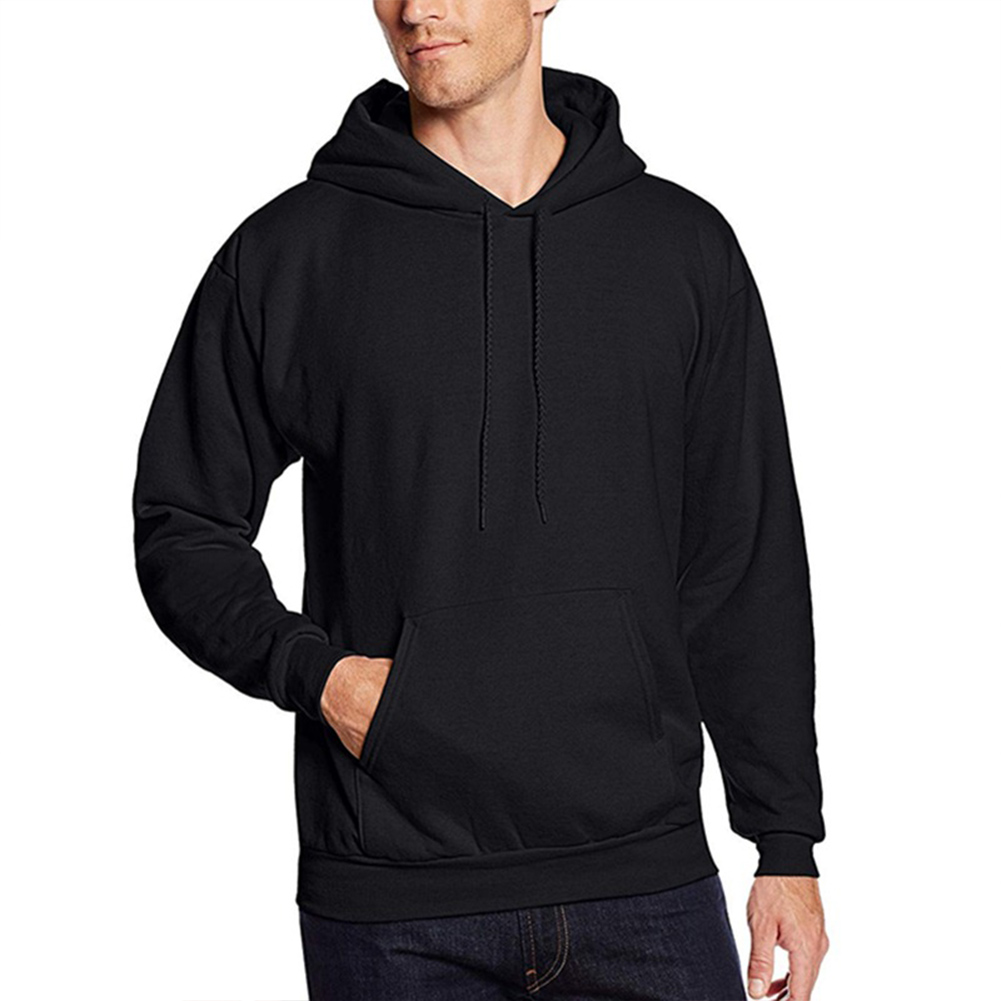 Men Fashion Solid Color Casual Sports Hoodies