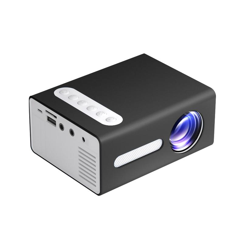 T300 LED Mini Projector Portable Kids Home RC Media Audio Player black_British regulatory