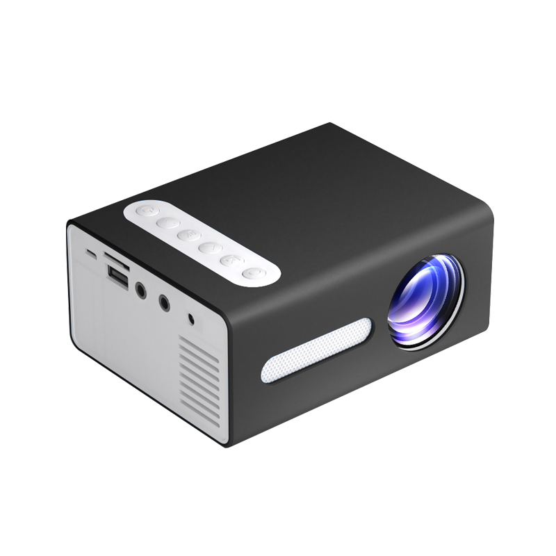 T300 LED Mini Projector Portable Kids Home RC Media Audio Player black_European regulations