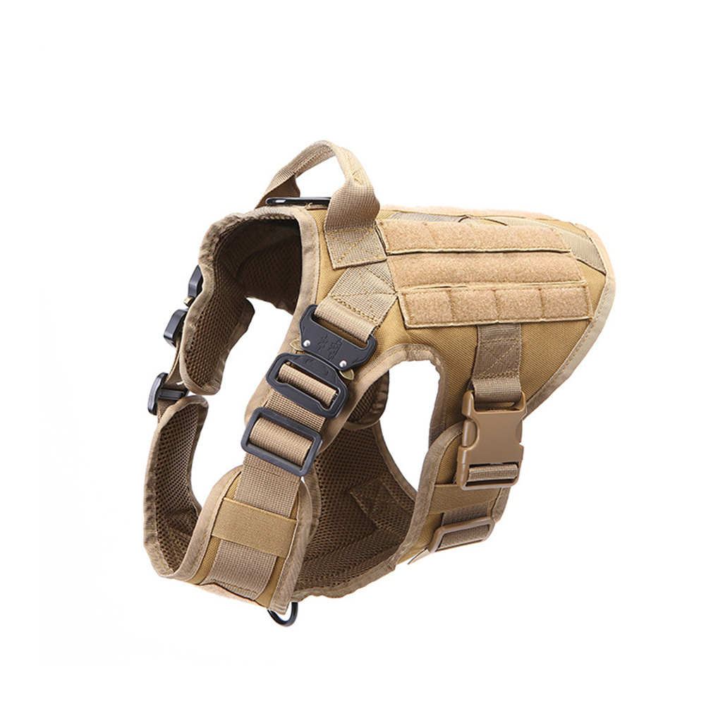 1000d Nylon Dog  Vest Outdoor Pet Vest With Buckle Quick Release Vest For Dog Brown_M