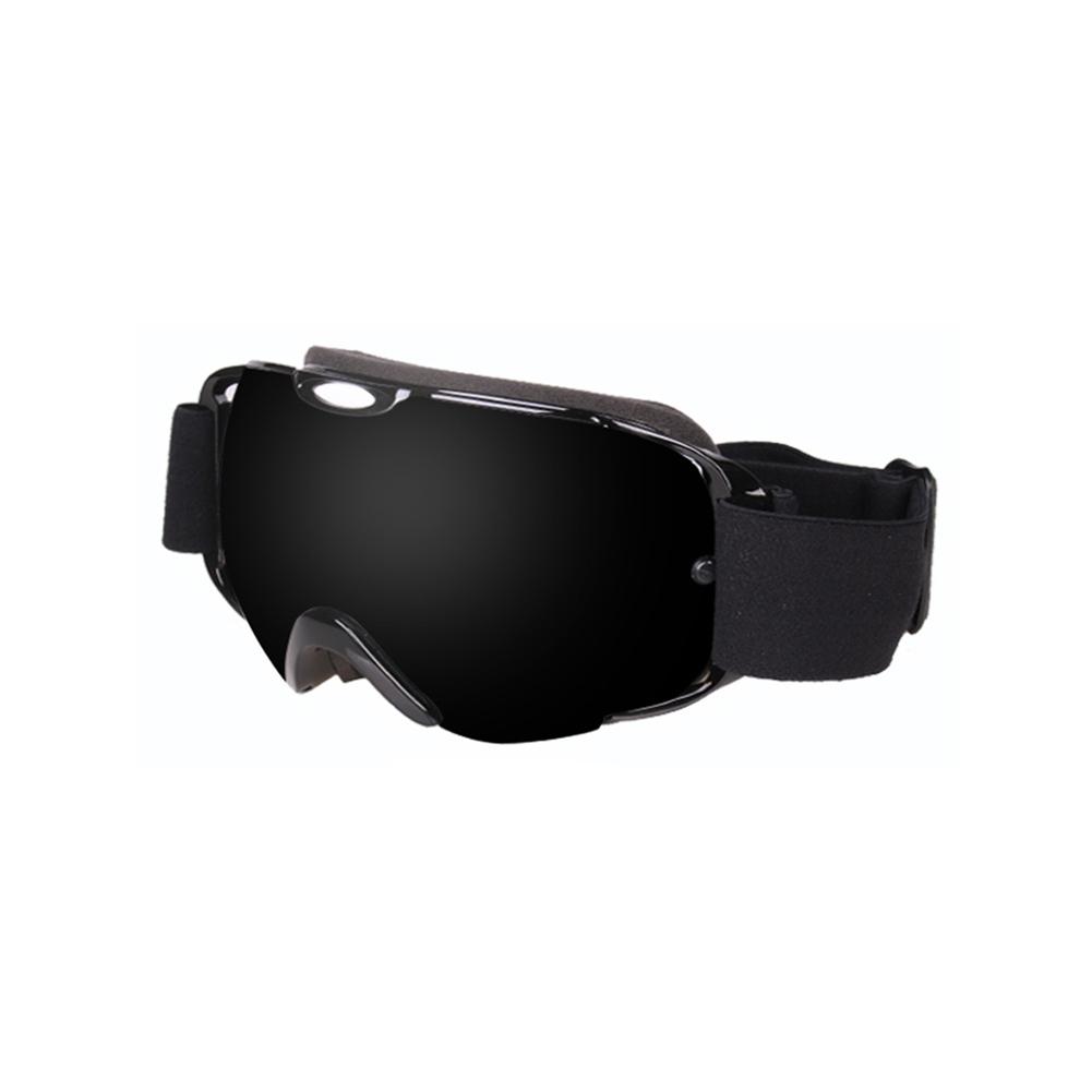 Ski Goggles Double Layer Antifog Large Spherical Snow Sports Snowboard Mountain Climbing Goggles full black