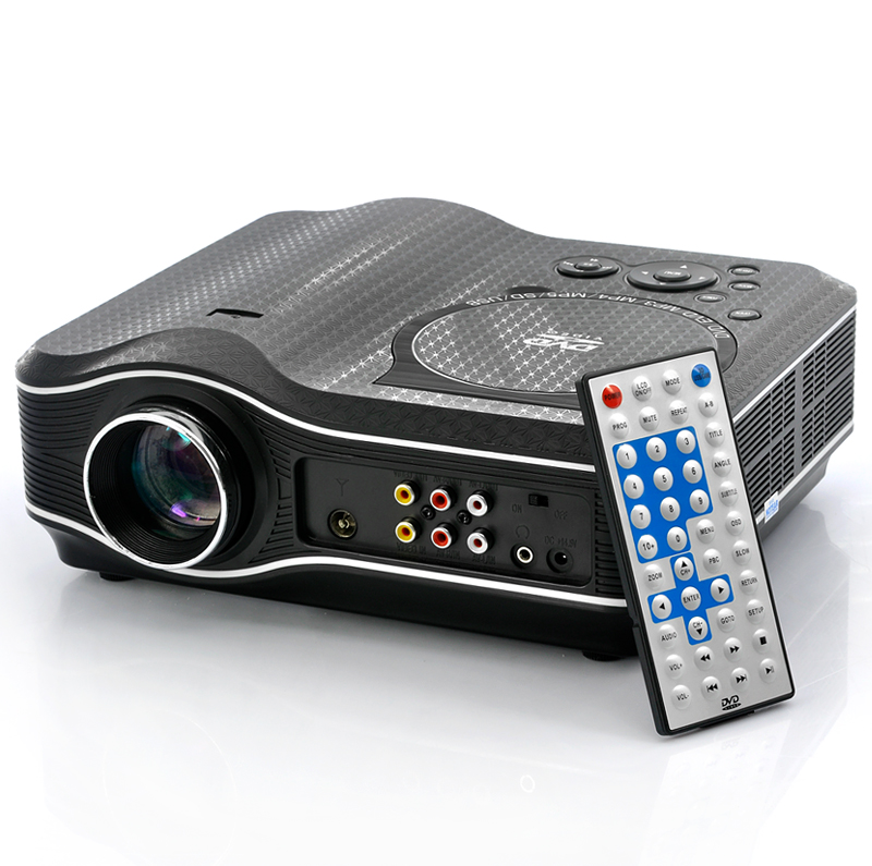 2100 Lumens DVD Projector with DVD Player Video Game Projector Beamer 400:1 Contrast AU Plug