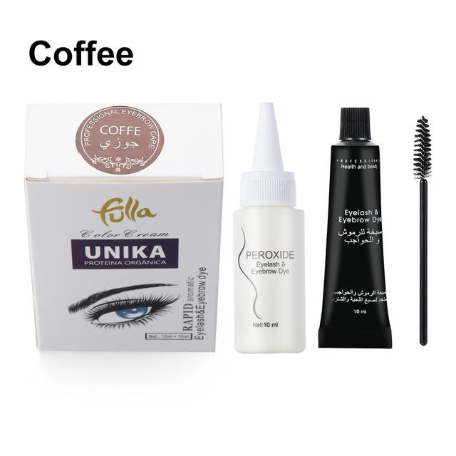 Eyebrow  Dye  Kit Eyelashes Cream Professional Natural Plant Kit Set Eyebrow Easy Dye Coffee
