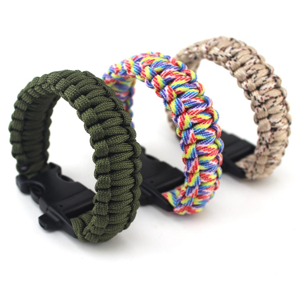 Seven-strand Umbrella Rope Hand-woven  Bracelet Outdoor Survival Chain Bracelet Random Color