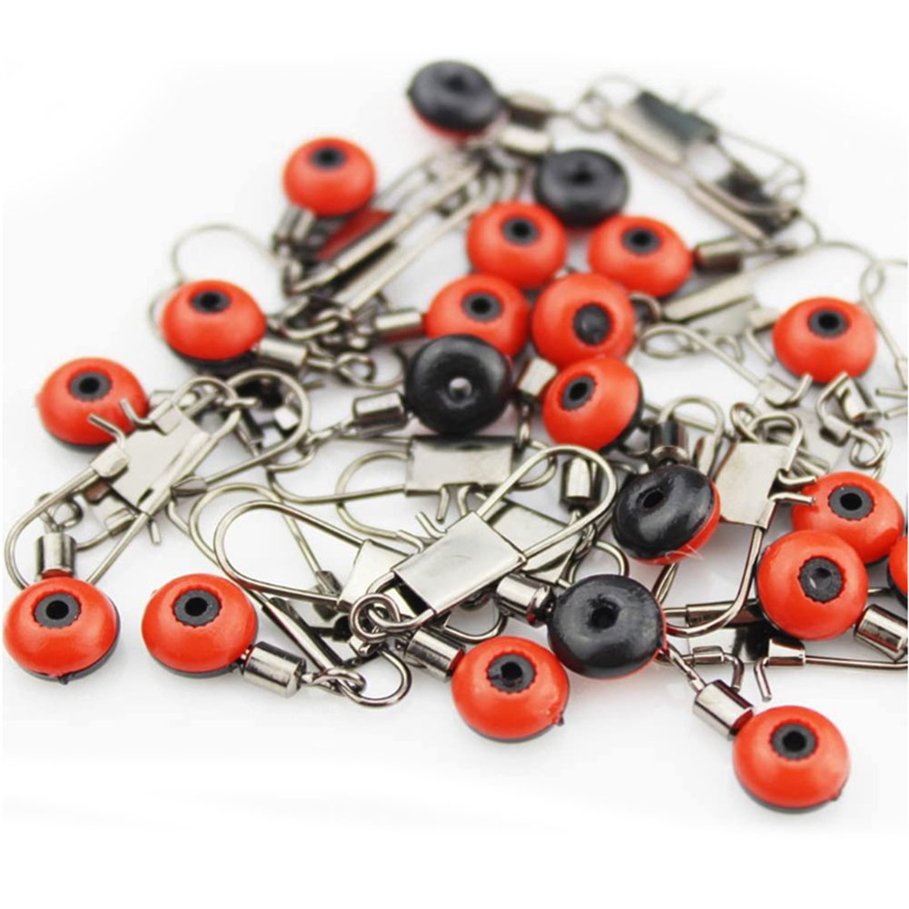 50 Pcs/Set  Fishing Float Bobber Connectors Sea Saltwater fishing Accessories 50 large (red)